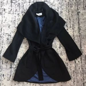 Tahari wrap wool coat